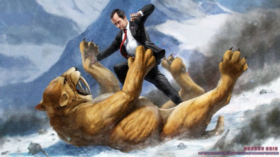 richard nixon fighting a saber tooth tiger by sharpwriter d6bln06 560x315