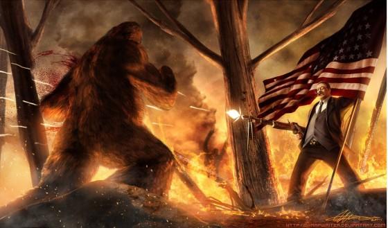 teddy roosevelt vs bigfoot by sharpwriter d3a72w4 e1424053435376 560x329