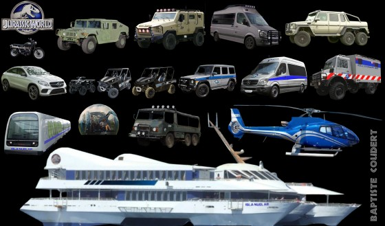 Jurassic World Vehicles 560x329