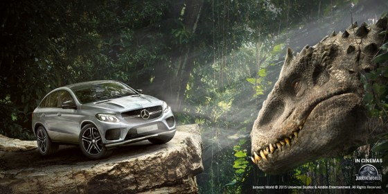 Mercedes Benz GLE Coupe SUV Jurassic World 560x280