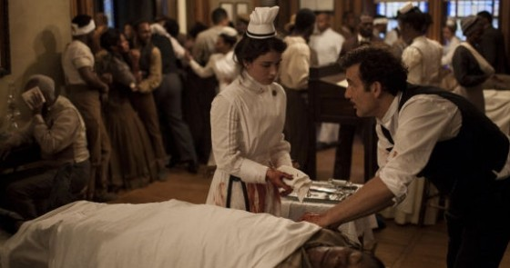 Eve Hewson and Clive Owen in The Knick season 1 episode 7 560x295