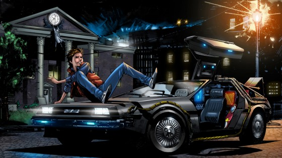 Back to the Future Fan Art 560x315
