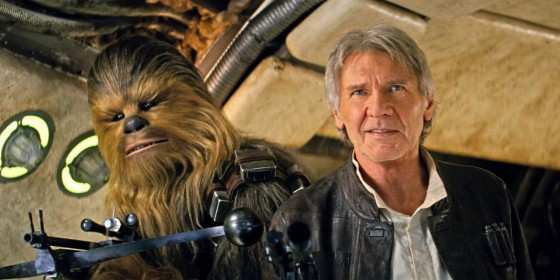 Star Wars The Force Awakens Han Solo Chewbacca 560x280