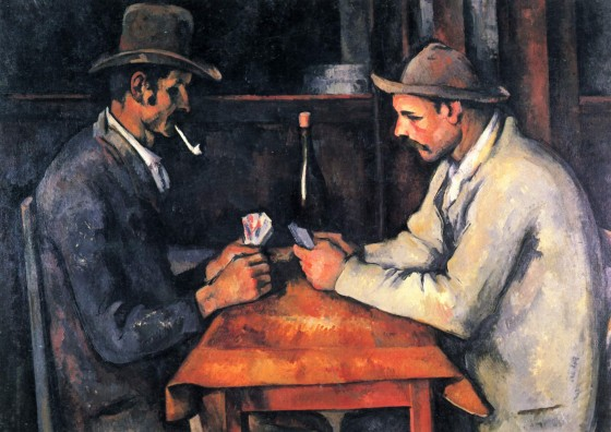 The Card Players Painting 560x396