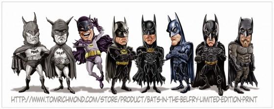 tom richman art print batman movie actors 560x223