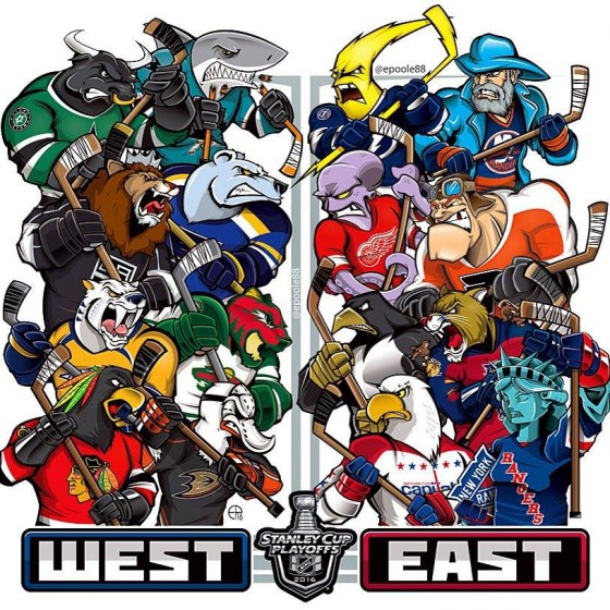 2016 Stanley Cup Playoff Mascots 560x560