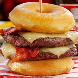 2,000 Calorie Double Donut Burger