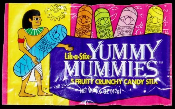 CC Sunline Sunmark Lik a Stix Yummy Mummies candy package early 1990s 560x350