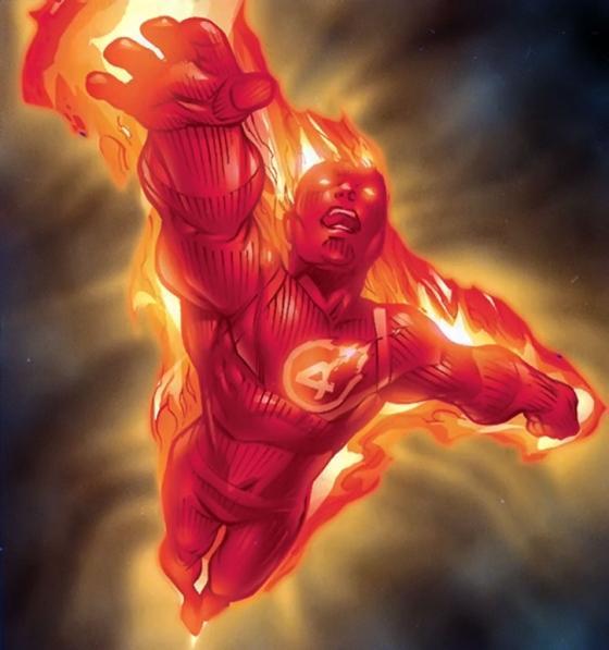 Human Torch Fantastic 4 Marvel Comics h424 560x597