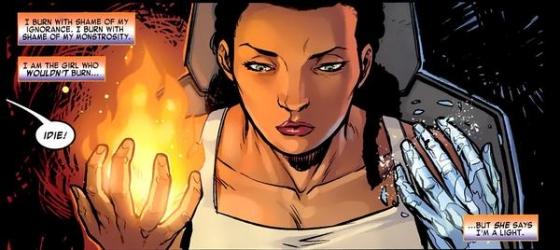 Idie Okonkwo Earth 616 using her powers 560x250