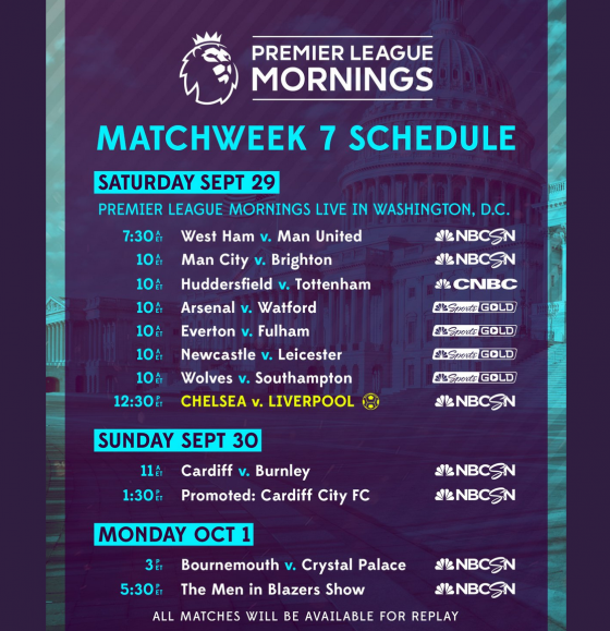 NBCSN Premier League 2018 Matchweek 7 560x579