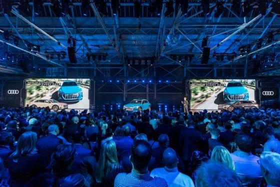 Small Electric goes Audi e tron world premiere 4733 560x373