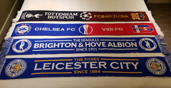Football scarves half and half scarf 560x287