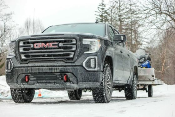 2019 GMC Sierra Denali Towing Snowmobiles in Vermont 560x373