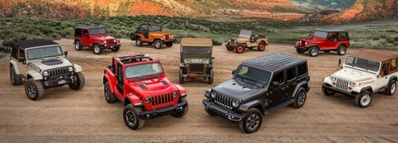 Jeep Wrangler models through the years 560x202