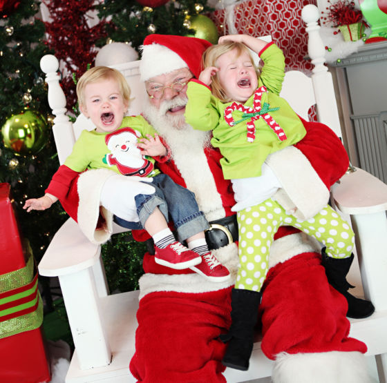 Santa Crying Kids 560x555