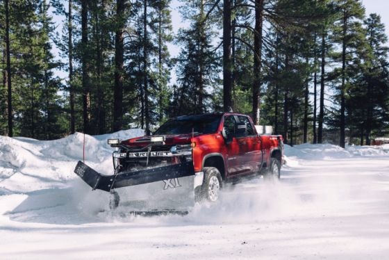 2020 Chevy Silverado HD Plowing 3 560x374