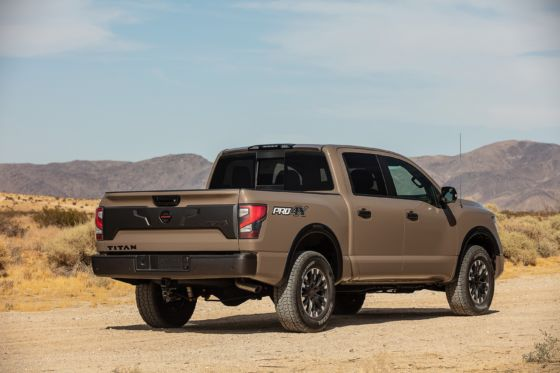 2020 Nissan Titan Pro 4X Exterior 4 560x373
