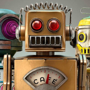 Fifteen Retro Robot Toys
