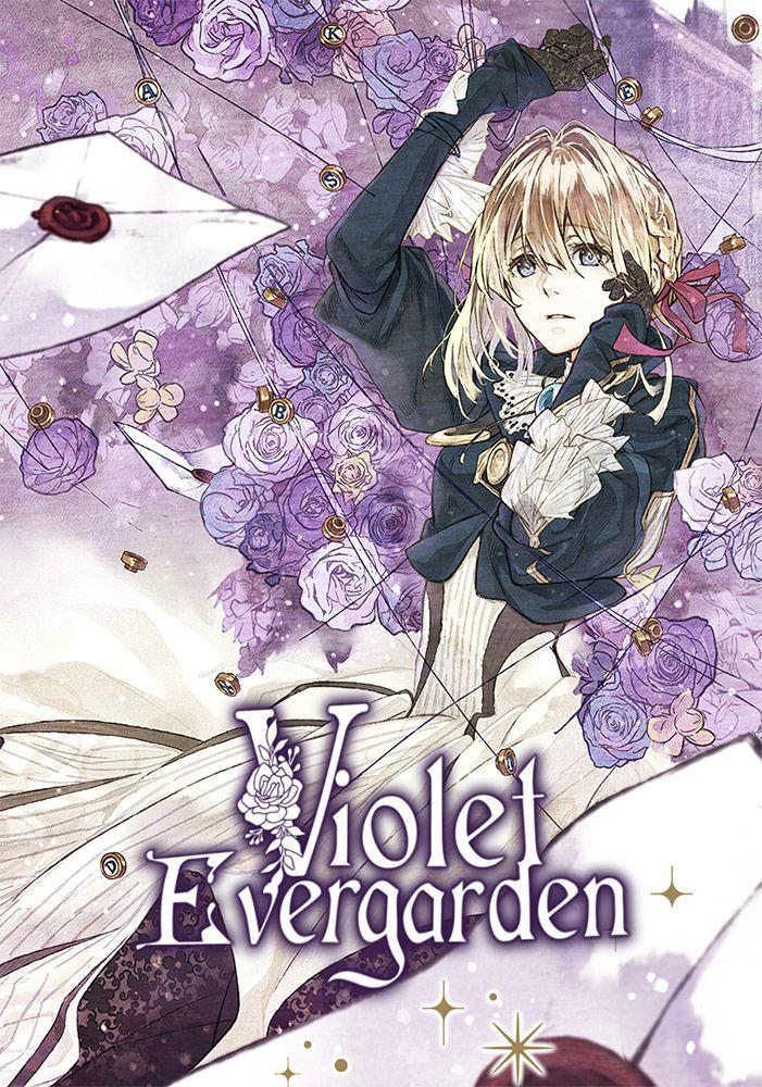 Capa da novel Violet Evergarden