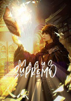 Capa da novel Magus Supremo