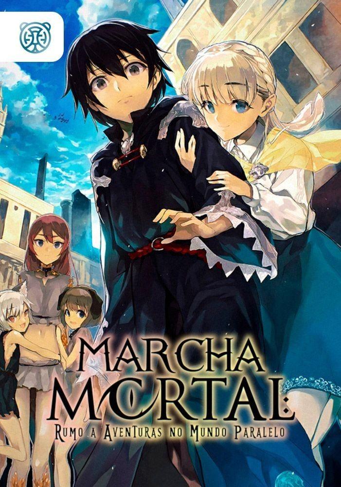 Capa da novel Marcha Mortal Rumo a Aventuras no Mundo Paralelo