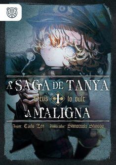 Capa da novel  A Saga de Tanya, a Maligna