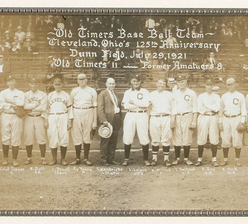 1921 Former Photo Old Timers base ball team July 29 Old Timers 11 Cleveland Ohios 125th Anniversary Dunn Field