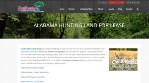 Alabama Hunting Land for Lease from Southeastern Land Group