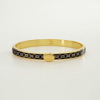 Parterre Chain Black & Gold Bangle