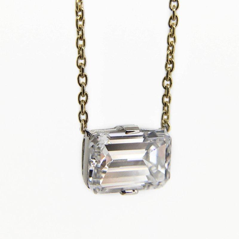 Hand-Forged by Henry C. Reid Emerald Cut Diamond Pendant