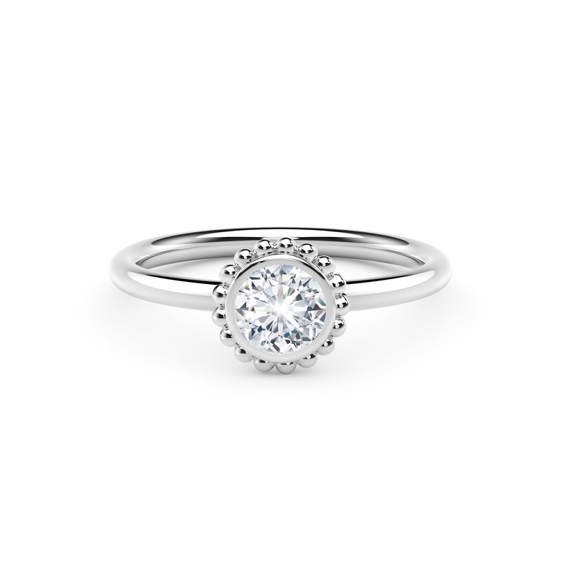 Crafted for Henry C. Reid Beaded Diamond Ring