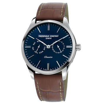 Classics Gents Quartz Stainless Steel & Leather Strap Watch
