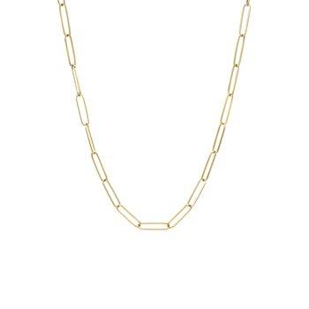 Thin Paper Clip Chain Necklace