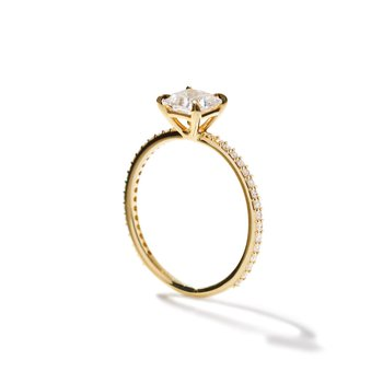 Princess Pave Ring