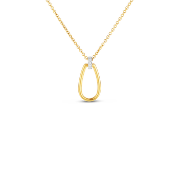 Gold Stirrup Pendant