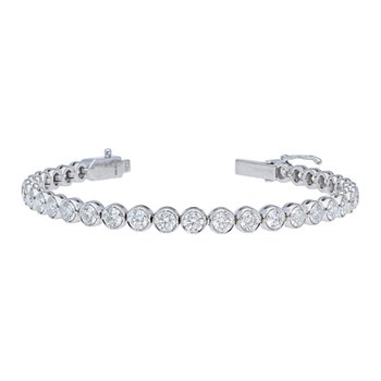 Diamond Tennis Bracelet Bezel Set