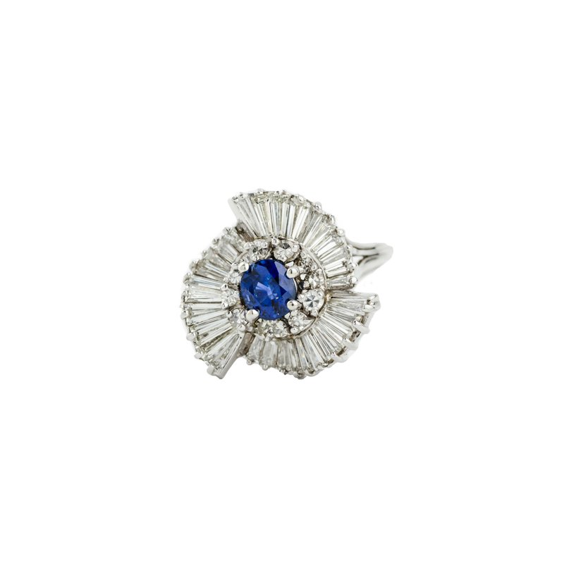 Estate Jewelry by Henry C. Reid Sapphire Ballerina Ring