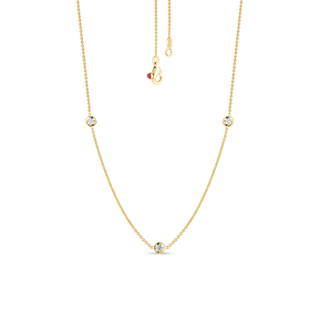 3 Diamond Stations Necklace