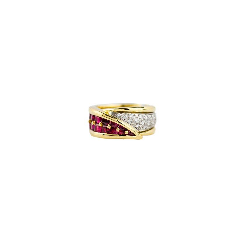 Estate Jewelry by Henry C. Reid Ruby & Diamond Ring