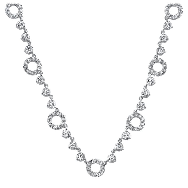 Crafted for Henry C. Reid Diamond Circle Necklace