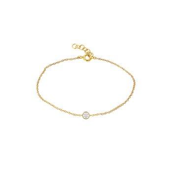 Small Bezel Diamond Bracelet