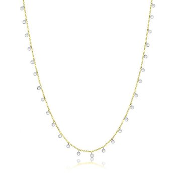 Necklace with Diamond Bezels