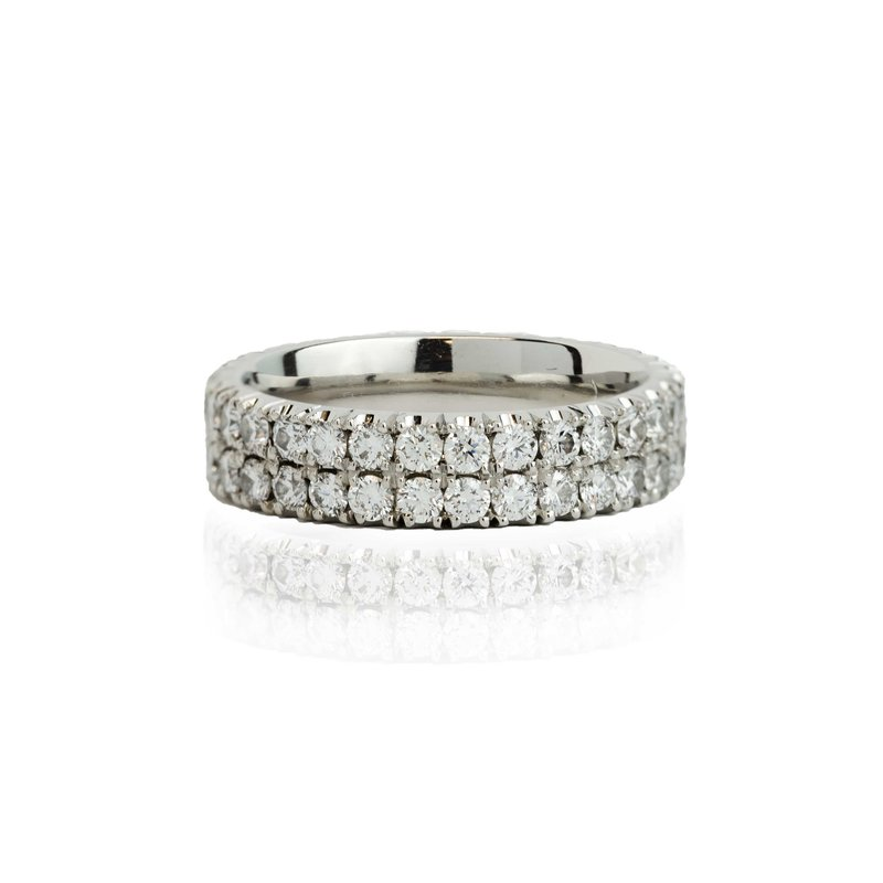 Hand-Forged by Henry C. Reid Double Diamond Band