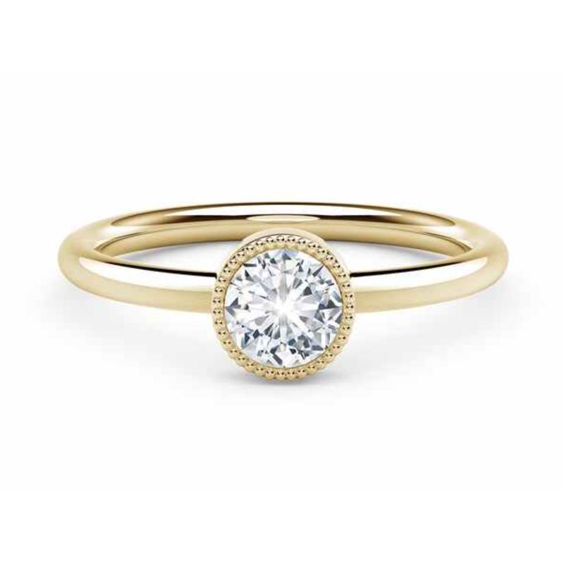 Crafted for Henry C. Reid Milgrain Bezel Ring