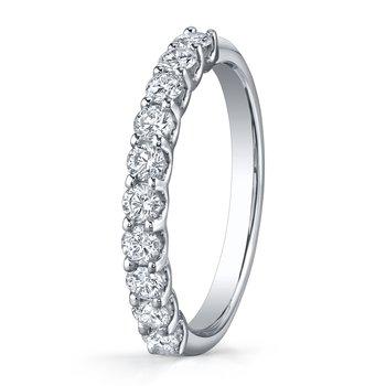 """""""U"""" Prong Diamond Wedding Band"""