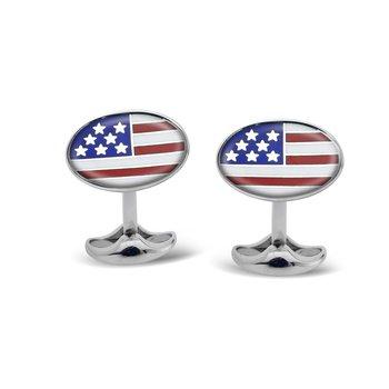 USA Enamel Cufflinks