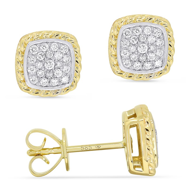 Crafted for Henry C. Reid Square Studs