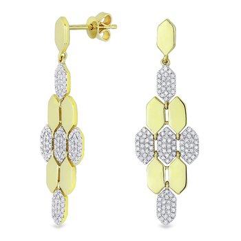Hexagon Dangle Earrings