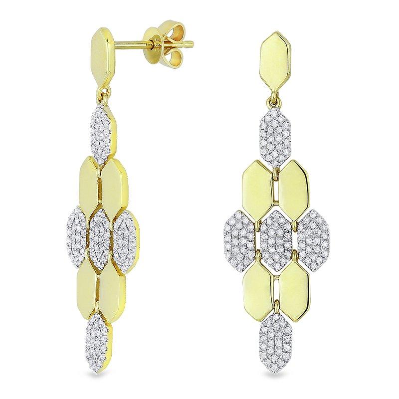 Crafted for Henry C. Reid Hexagon Dangle Earrings